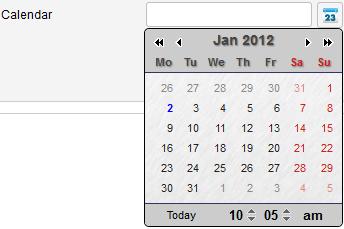 Calendar steel theme