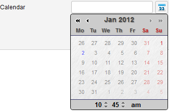 calendar past setting