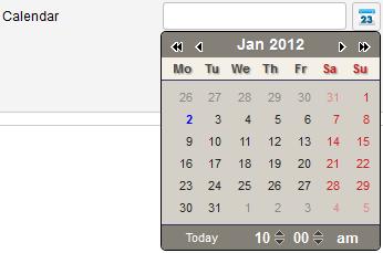 calendar win2k theme