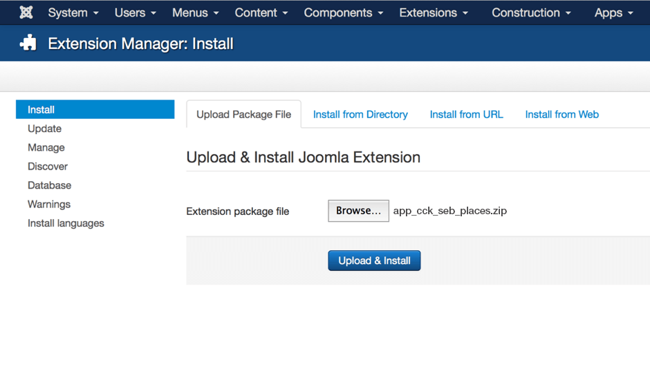 Install from Extension Manager